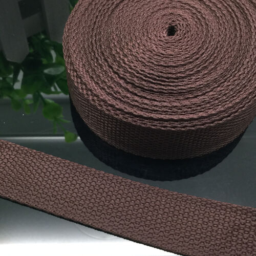 New 2//5//10//50 Yards 1 Inch 25mm Width Nylon Webbing Strapping 21 colour pick UK
