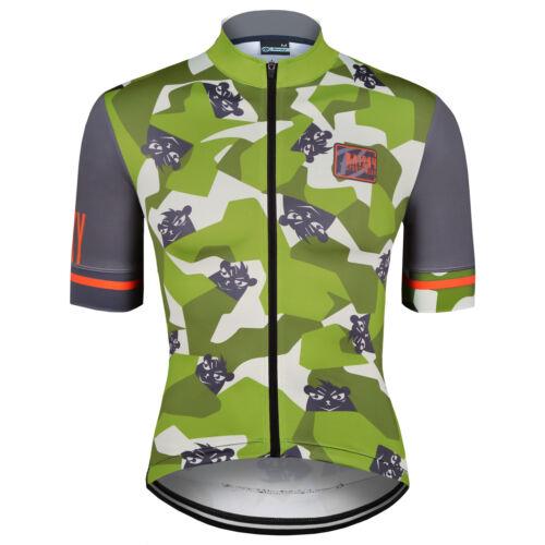 Baisky Cycling-Jersey-Milk Fiber-Cartoon series-Camouflage Bear-2 Colors