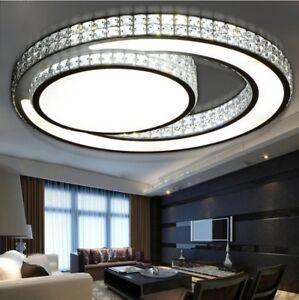 Details about Ceiling Lights LED Modern Bedroom Crystal Lampshade Living  Room Ceiling Lights