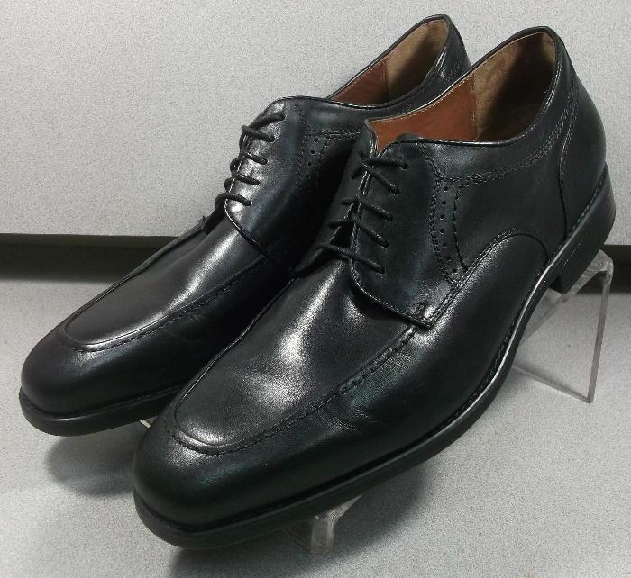 152435 PF50 Chaussures Hommes Taille 9.5 W noir en cuir à lacets Johnston & Murphy