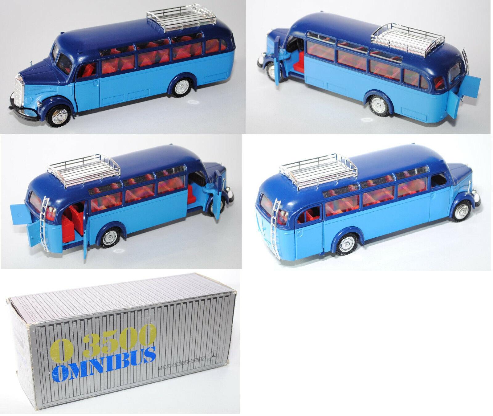 NZG 218 Mercedes Omnibus O 3500, saphirblau lichtblau, 1 40