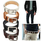 Men's Casual Waistband Leather Belts Trousers Pin Buckle Waist Strap Fashion