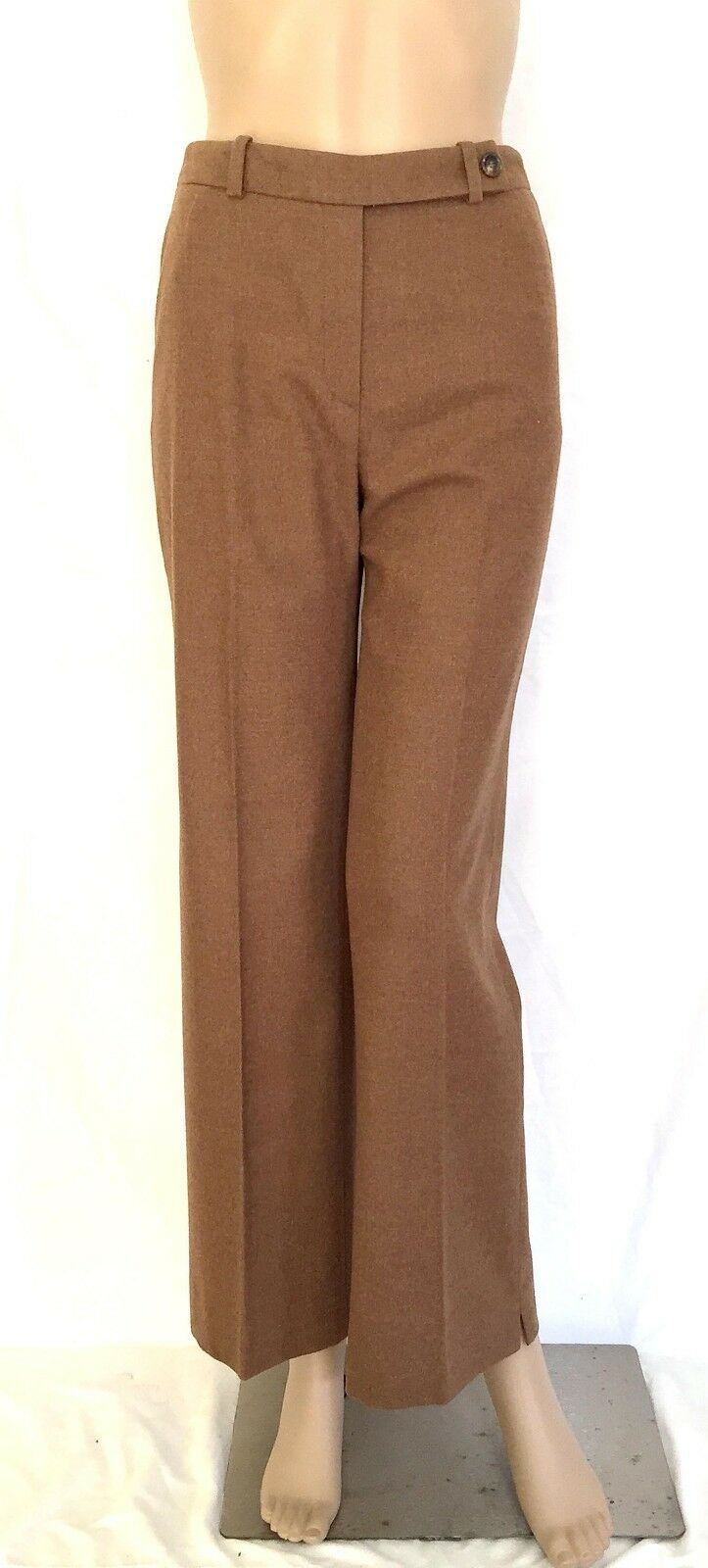 AKRIS Brown Wool Blend Tapered Straight Legged Pants - Size 4 - EUC