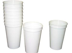 12 Large White 20 Oz Plastic Drinking Glasses Cups Mfg Usa Dishwasher Safe Ebay