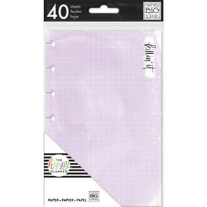 MAMBI The MINI Happy Planner Paper Inserts Coloured 40 Sheets Watercolour