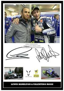 071-Lewis-Hamilton-amp-Valentino-Rossi-Signed-a4-Photogragh-great-gift