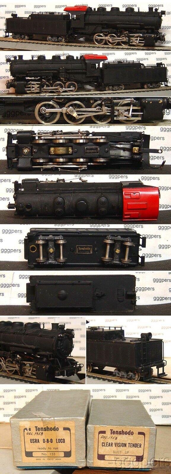HO train TENSHODO PFM Brass Steam 0-8-0 Engine & Tender USRA No.133 134 adhm