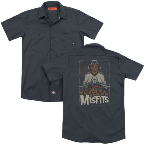 Misfits Band I REMEMBER HALLOWEEN Licensed Adult Dickies Work Shirt All Sizes
