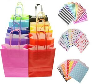Wedding Birthday Shopping Party Gift Loot Kids 6 Neon Pink Bags With Handles