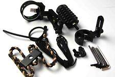 mira de arco mejora tiro con kit,Soporte para flechas,Estabilizador lazo peep