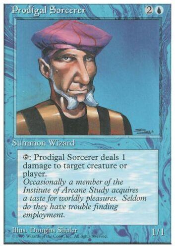 PRODIGAL SORCERER Magic 4ED Mint STREGONE ERRANTE