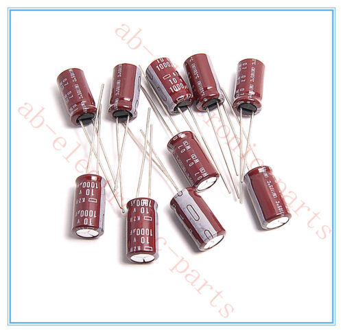20x 1000uf 10v NCC Radial Electrolytic Capacitors 8x16mm KZH 10v1000uf Low ESR