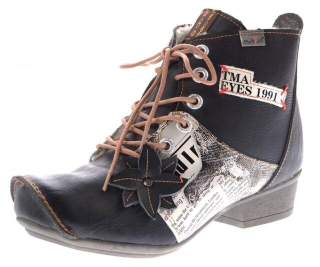 6f16eaa3b257 Cuir Bottines Femme Doublé Bottes Véritable Chaussures D hiver TMA ...