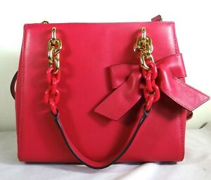 5577ed3fca05 Image is loading Michael-Michael-Kors-Cynthia-Ultra-Pink-Leather-Small-