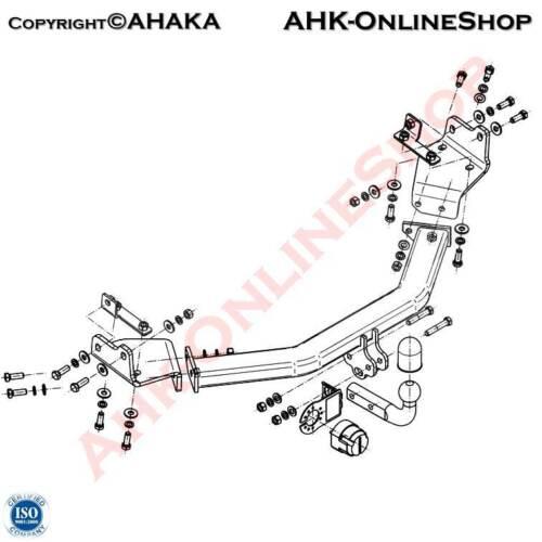E-Satz 7 polig Fiat Freemont ab 2011 Anhängerkupplung AHZV Komplett Neu AHK