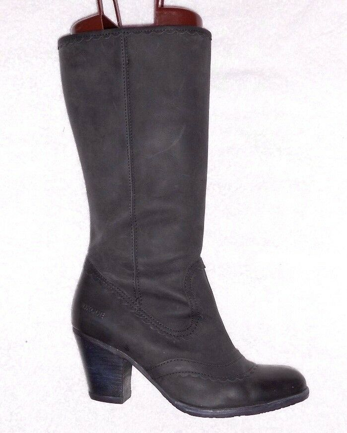 Dkode bottes zipped noir matte leather p 40 = 39 tbe