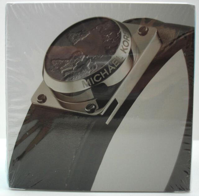 c1975908a970 Authentic NWT MICHAEL KORS Access Activity Tracker Leather Bracelet  Black Silver