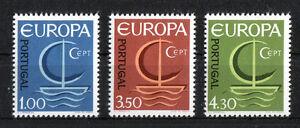 Portugal-CEPT-N-1012-1014-cachet-Europe-1966-Neuf-sans-charniere