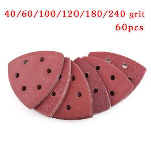 Triangulaire-Papier-Polissage-Grincement-Sablage-Sander-Remplacement-40-240-Grit