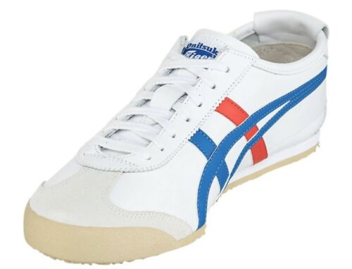 Onitsuka Tiger Mexico 66 White Blue Red Sneaker US Unisex Size 6 Woman 7 1//2