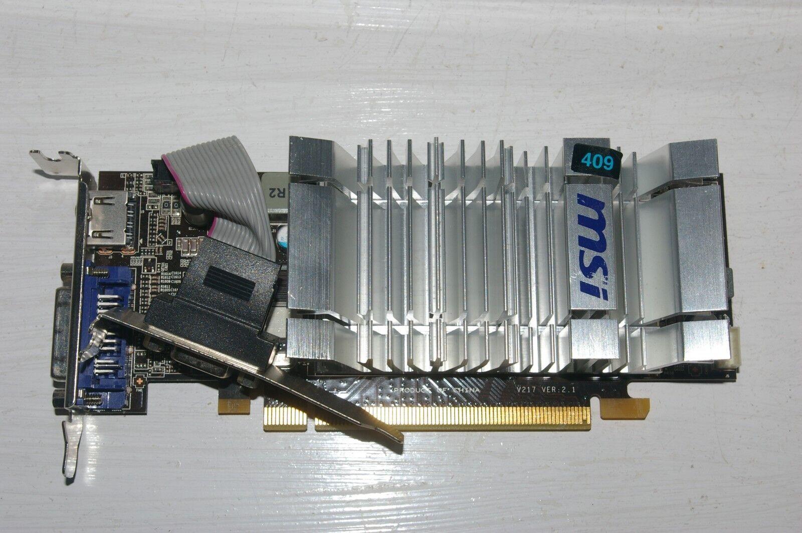 MSI ATI AMD RADEON HD5450 CEDAR 1 GB RAM HDMI/DVI/VGA