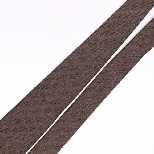 John G Hardy Mens Silk Necktie Solid Brown Stripe Textured Weave Woven Tie Italy