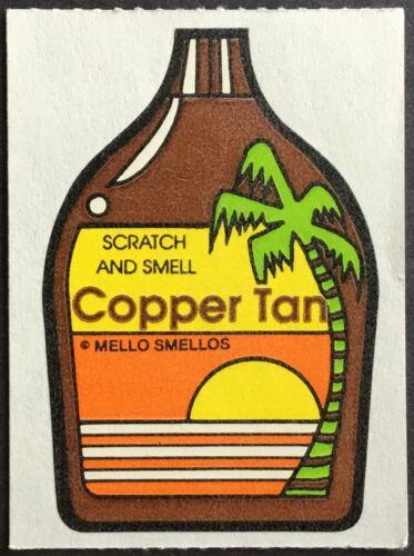 Mello Smello Excellent!! Vintage Scratch /& Sniff Stickers Copper Tan