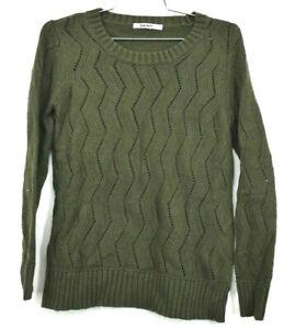 DKNY-Women-039-s-Size-Medium-Angora-Cotton-Viscose-Blend-Knit-Long-Sleeve-Sweater