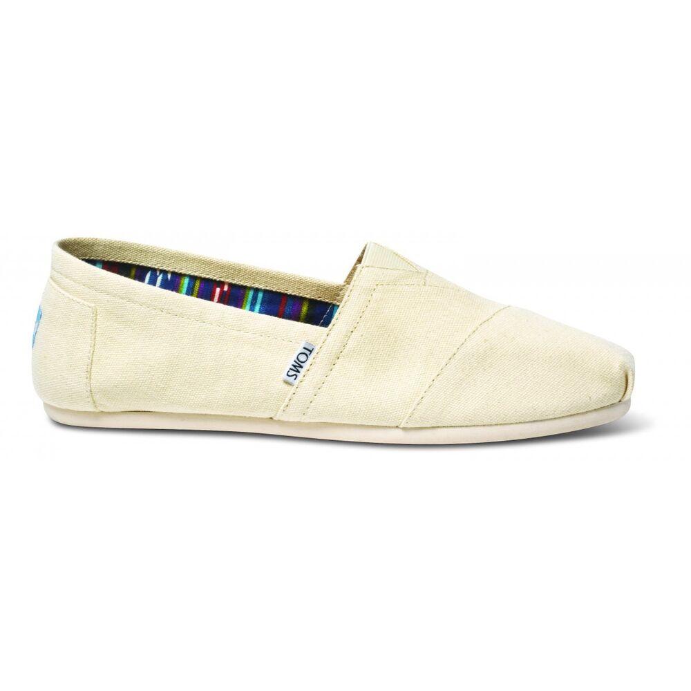 Toms Chaussures Espadrilles à Enfiler Blanc Naturel 1000865 Toile Unisexe