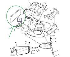 John Deere JS20 JS30 JS40 JS45 Rear Grass Deflector Skirt GX22260 New OEM