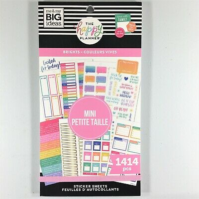 The Happy Planner Brights Sticker Book Pack Of 1076 Me /& My Big Ideas
