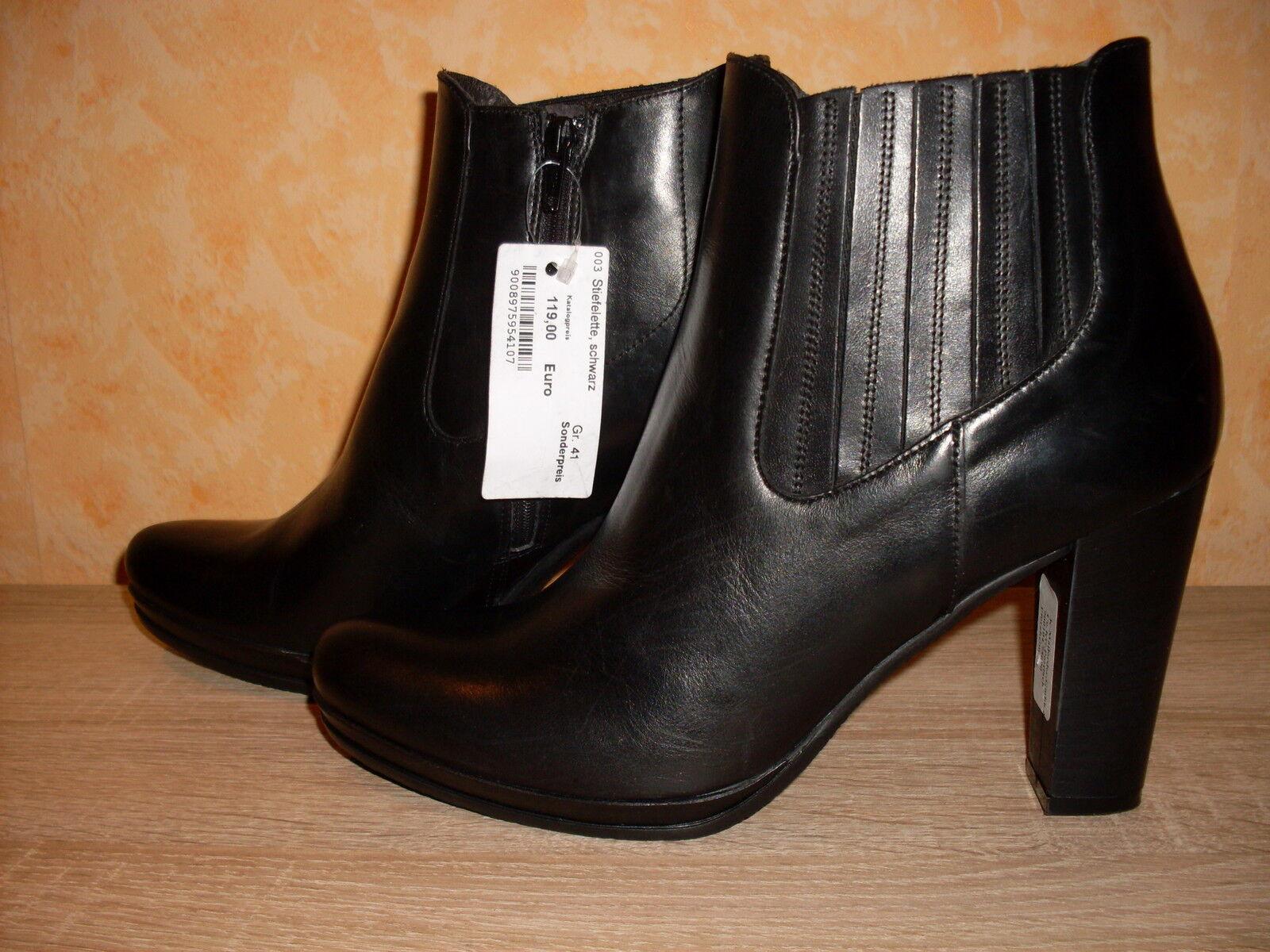 Zapatos especiales con descuento Studio W Stiefelette NEU Gr. 41 in schwarz & Nappaleder schlicht & hoch ansehen