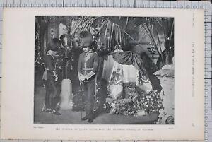 1901-PRINT-FUNERAL-OF-QUEEN-VICTORIA-MEMORIAL-CHAPEL-AT-WINDSOR