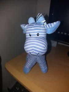 Mothercare-blue-Stripey-Stripe-Giraffe-Horse-Comforter-Soft-Hug-Toy-Rattle