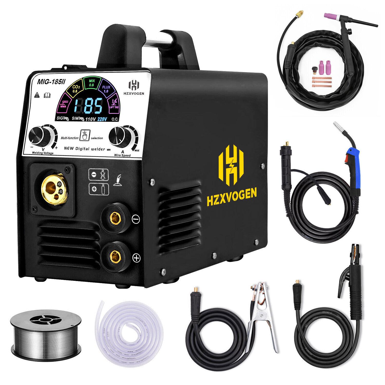 4in 1 LED MIG Welder 220V Gas Gasless  ARC TIG MIG Welding Machine w/ TIG Torch. Buy it now for 295.99