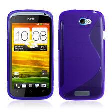 Funda Flexi Gel Grip HTC One S Carcasa TPU Diseño S Morada