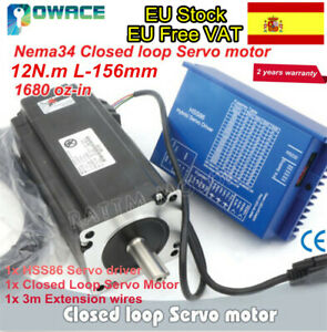 12N-m-Nema34-Closed-Loop-Servo-Motor-156mm-6A-2HSS86-Hybrid-CNC-Driver-Kit-ES