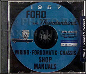 1957 Ford Thunderbird Shop Manual And Electrical Wiring Assembly Cd