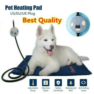 Pet-Electric-Heat-Heated-Heating-Heater-Pad-Mat-Blanket-Dog-Cat-Bed-Warming-Rug