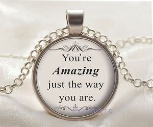 Vintage-Inspirational-Quote-Glass-Cabochon-Silver-plated-Pendant-Necklace-WSH-50