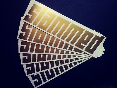 SLAMMED Gold Metalic Color Vinyl Graphic JDM Euro Sticker Vinyl Cut Decal