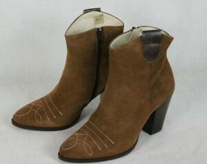 Heine Cowboy-Stil Leder Stiefeletten,Damen Gr.39,neu,LP120€