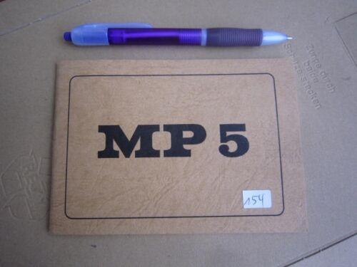 Heckler Koch Bedienungsanleitung MP5 HK owners manual 1970´s