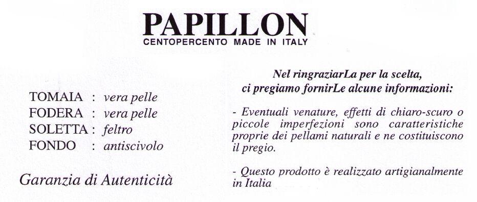 PANTOFOLA CIABATTA DA CAMERA DITTA PAPILLON art. 055 PELLE STAMPATA col. ARGENTO