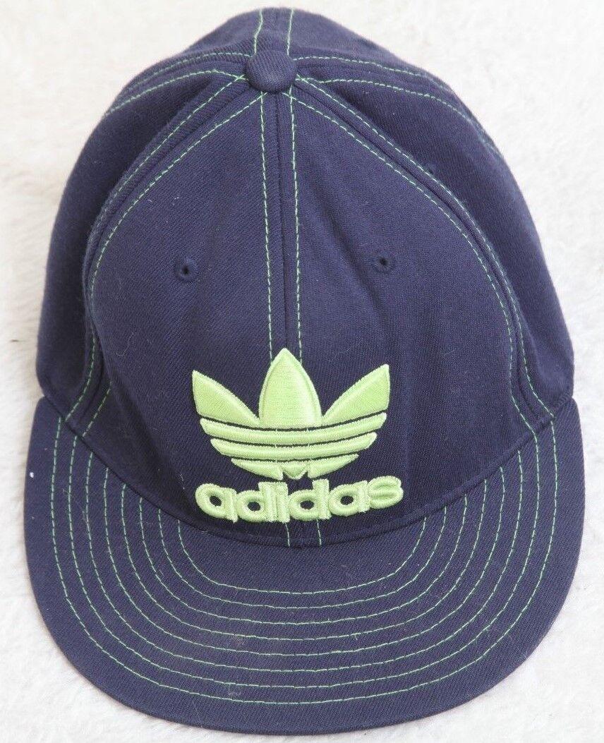 Adidas Blue Green Green Green Baseball Hat Men's Small-Medium Solid Cap Acrylic Wool Spandex d24f7e