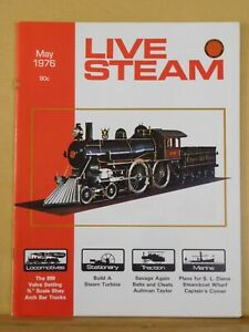 Details about Live Steam Magazine 1976 May Build a steam turbine SL Diana  plans Steamboat Whar