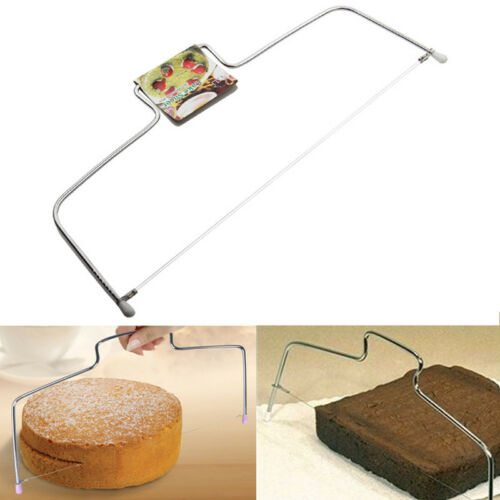 UK Adjustable Wire Cake Slicer Cutter Leveller Decorating Bread Wire Decor Tool