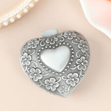 Vintage Heart Shape Jewelry Box Small Antique Ringearringsnecklace Storagecahg
