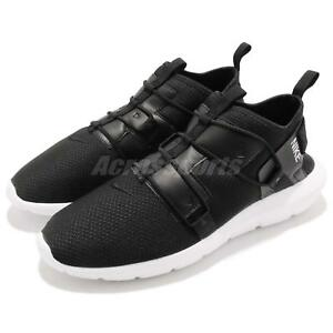 bca2f84ba1d56 Image is loading Nike-Vortak-Black-White-Laceless-Mens-Casual-Shoes-