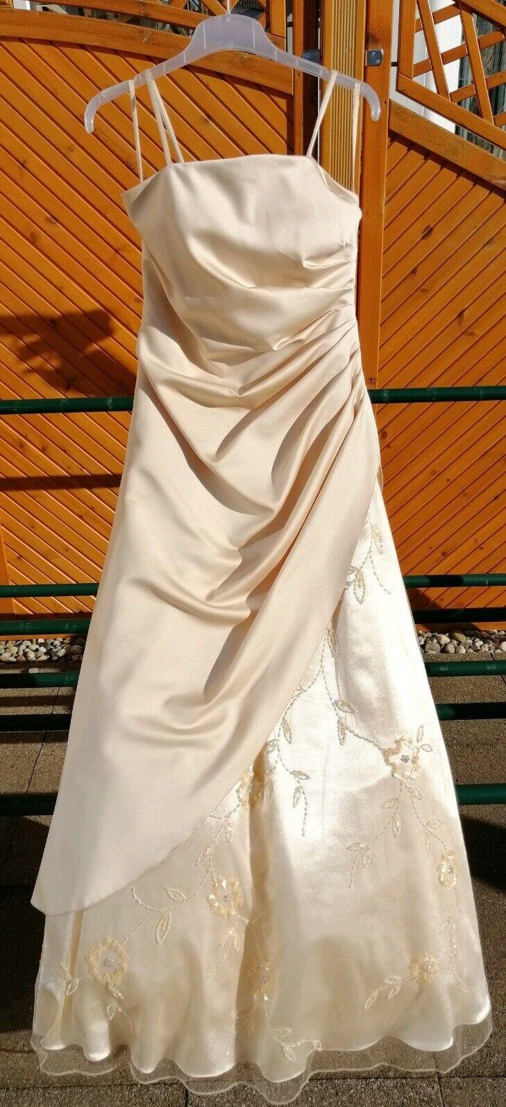 Niente Ballkleid Abendkleid in nude beige Gr. 36